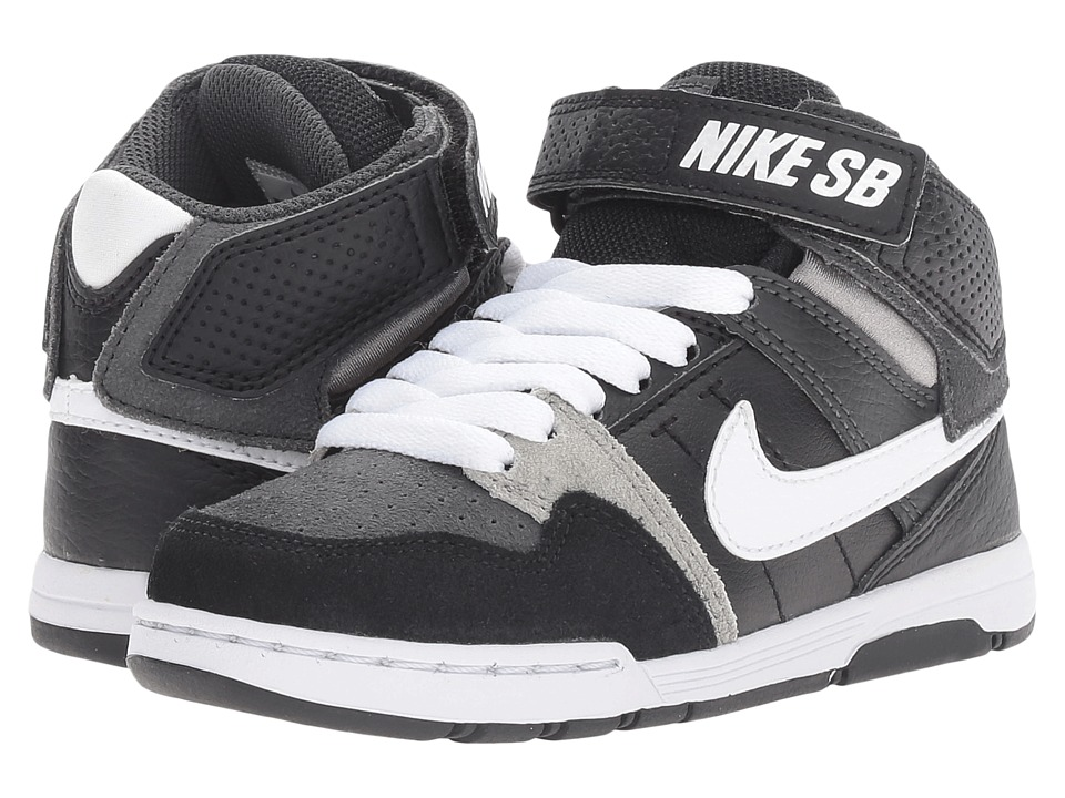 Nike SB Kids Mogan Mid 2 Jr (Little Kid/Big Kid) (Anthracite/White/Black/Mid Grey) Boys Shoes