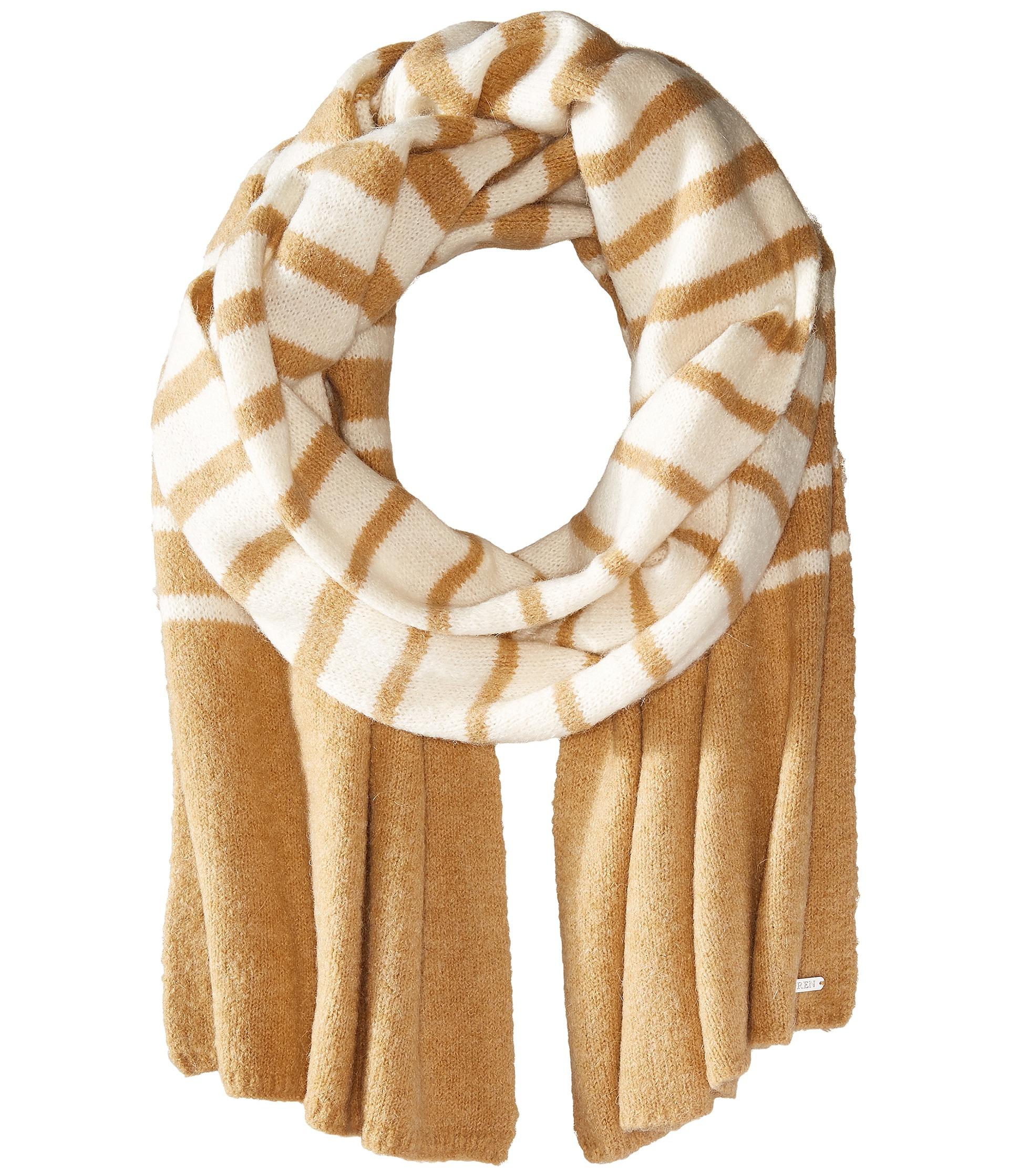 ralph boiled wool stripe blanket scarf