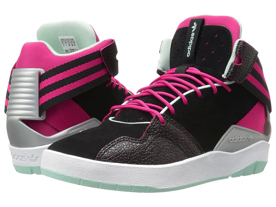 Image of adidas Originals Kids - Crestwood Mid (Big Kid) (Black/Bold Pink/Ice Green) Girls Shoes
