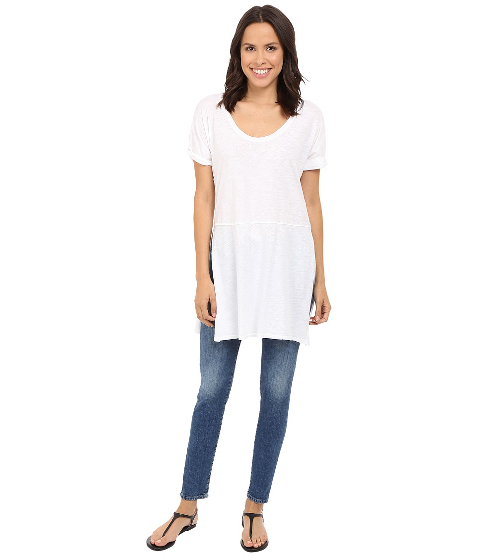 Three Dots - Laverne Side Slit Tunic (White) Women