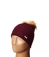 LAUREN Ralph Lauren - Moss Stitch Slouchy Hat w/ Pom