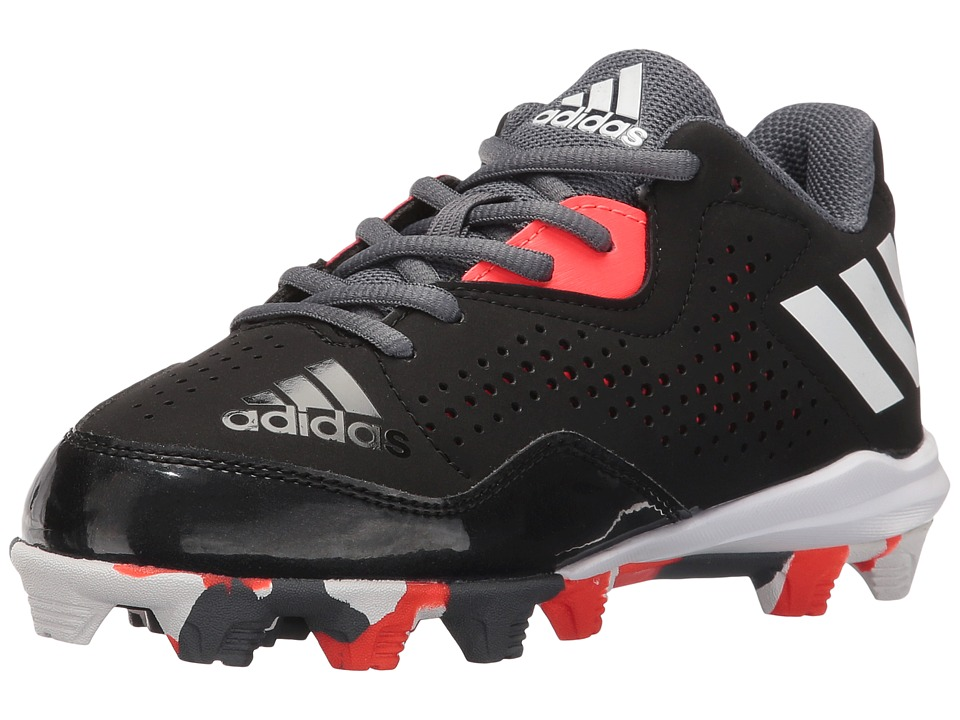 adidas Kids Wheelhouse 4 Baseball (Toddler/Little Kid/Big Kid) (Black/White/Solar Red) Boys Shoes