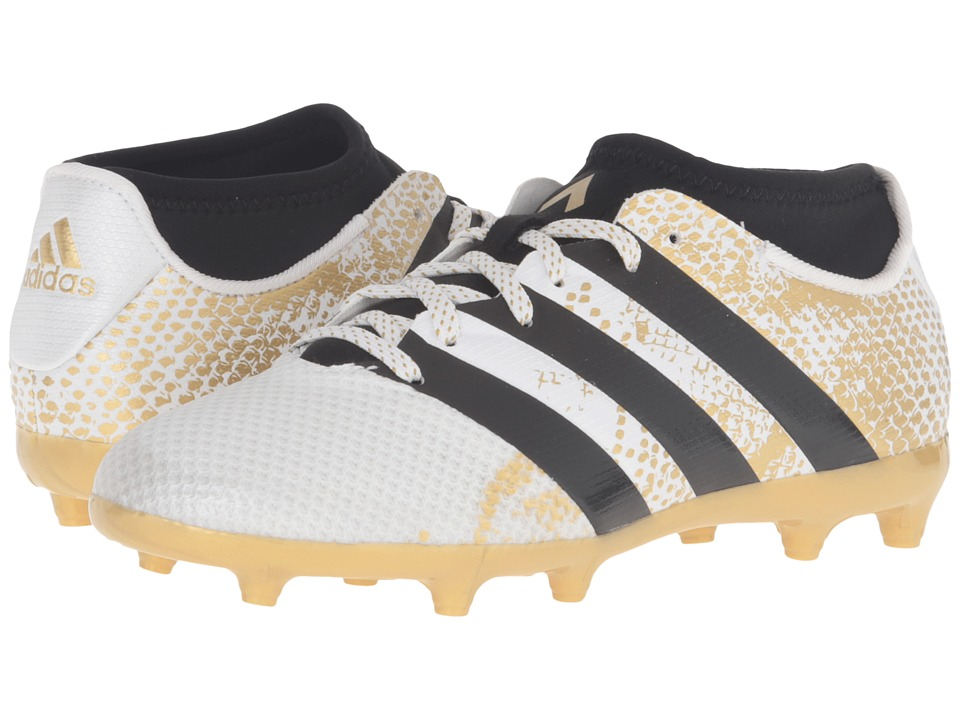 Image of adidas Kids - Ace 16.3 Primemesh TF Soccer (White/Black/Gold Metallic) Kids Shoes