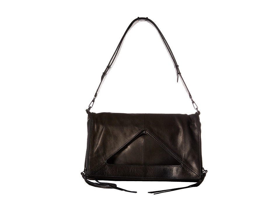 Botkier - Bristol Fold-Over (Black) Cross Body Handbags