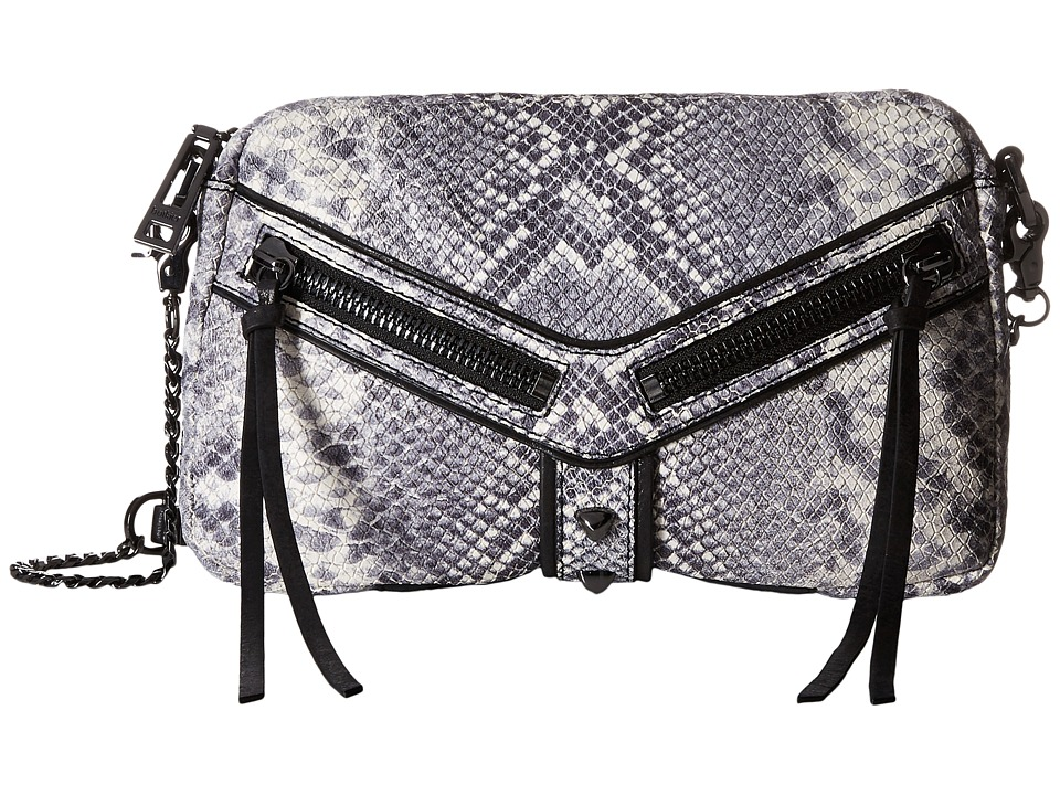 Botkier - Trigger East/West Top Zip (Black Snake) Top-Zip Handbags