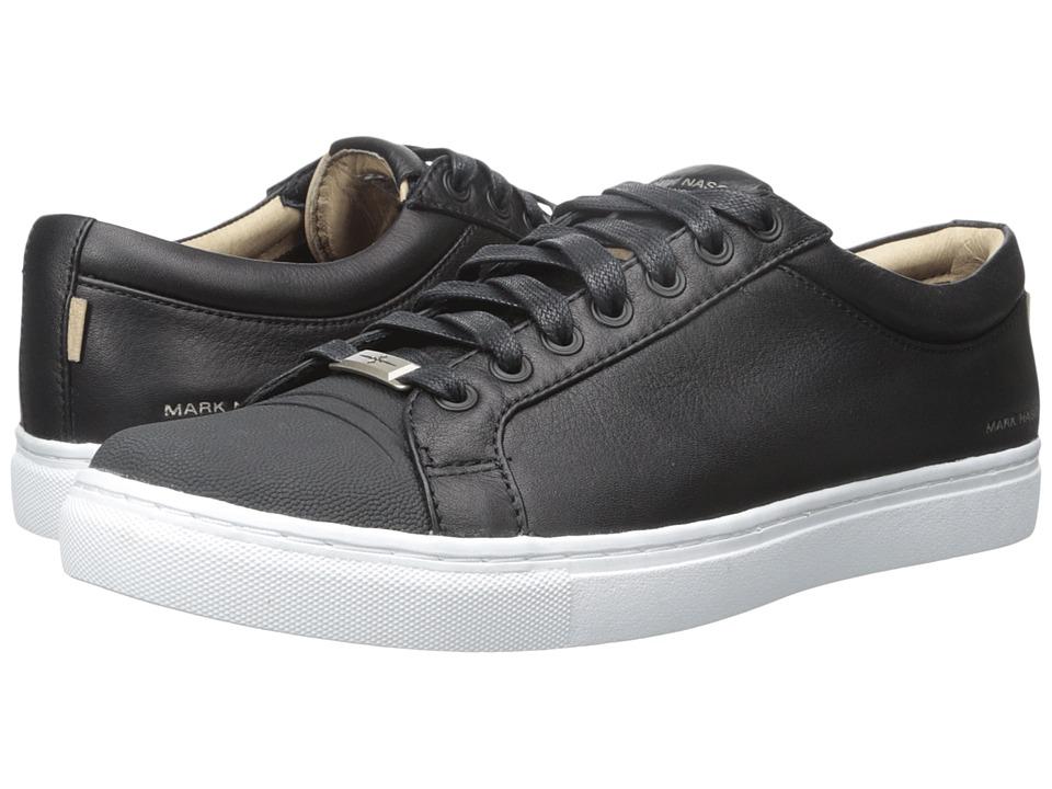 Mark Nason Santee Black Leather/White Bottom Mens Lace up casual Shoes