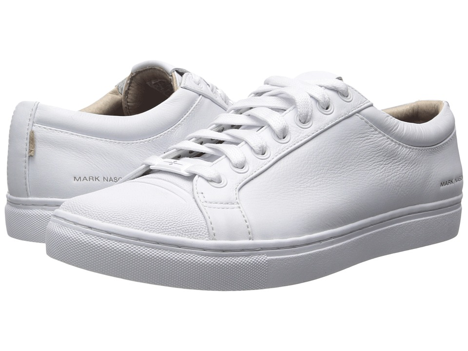 Mark Nason Santee White Leather/White Bottom Mens Lace up casual Shoes