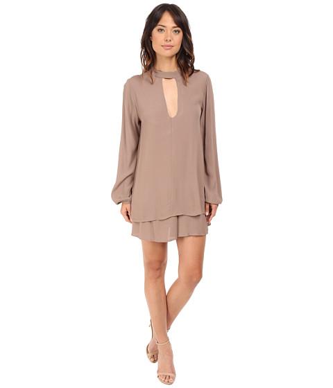 Brigitte Bailey Harper Keyhole Long Sleeve Dress