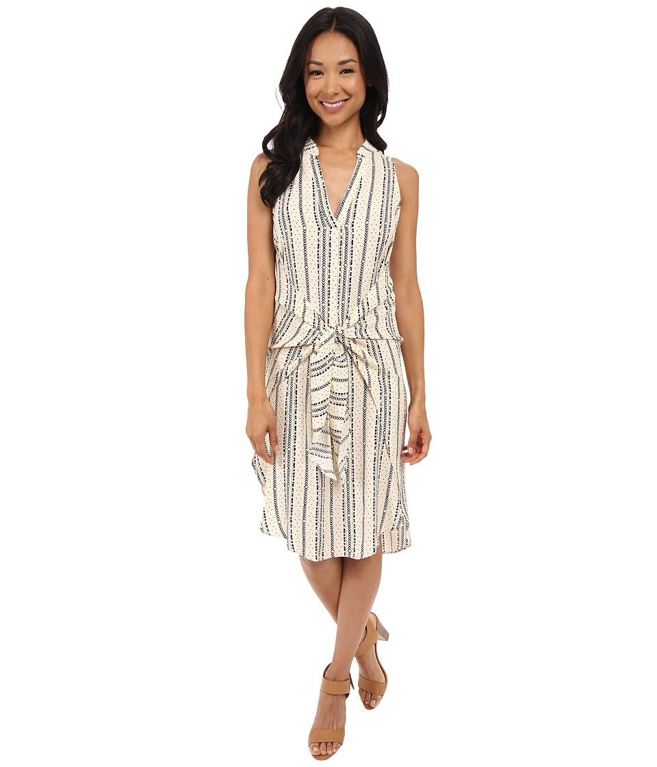 Brigitte Bailey Ema Print Dress Cream/Black Womens Dress