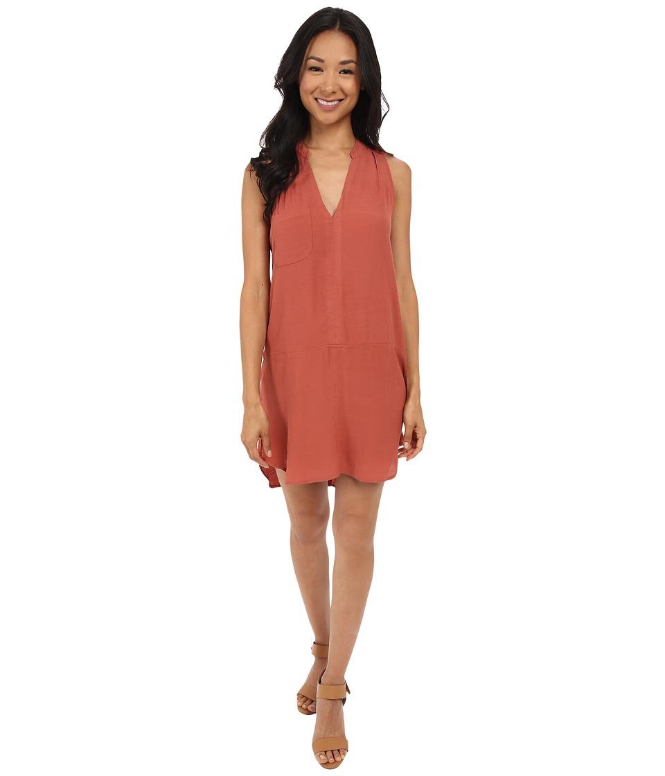 Brigitte Bailey Briza Sleeveless Woven Dress Etruscan Red Womens Dress