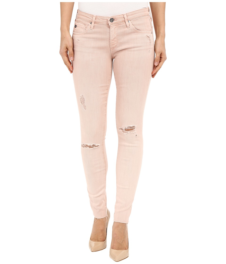 AG Adriano Goldschmied The Leggings Ankle in Sun Faded Distressed Sandy Rose Sun Faded Distressed Sandy Rose Womens Casual Pants
