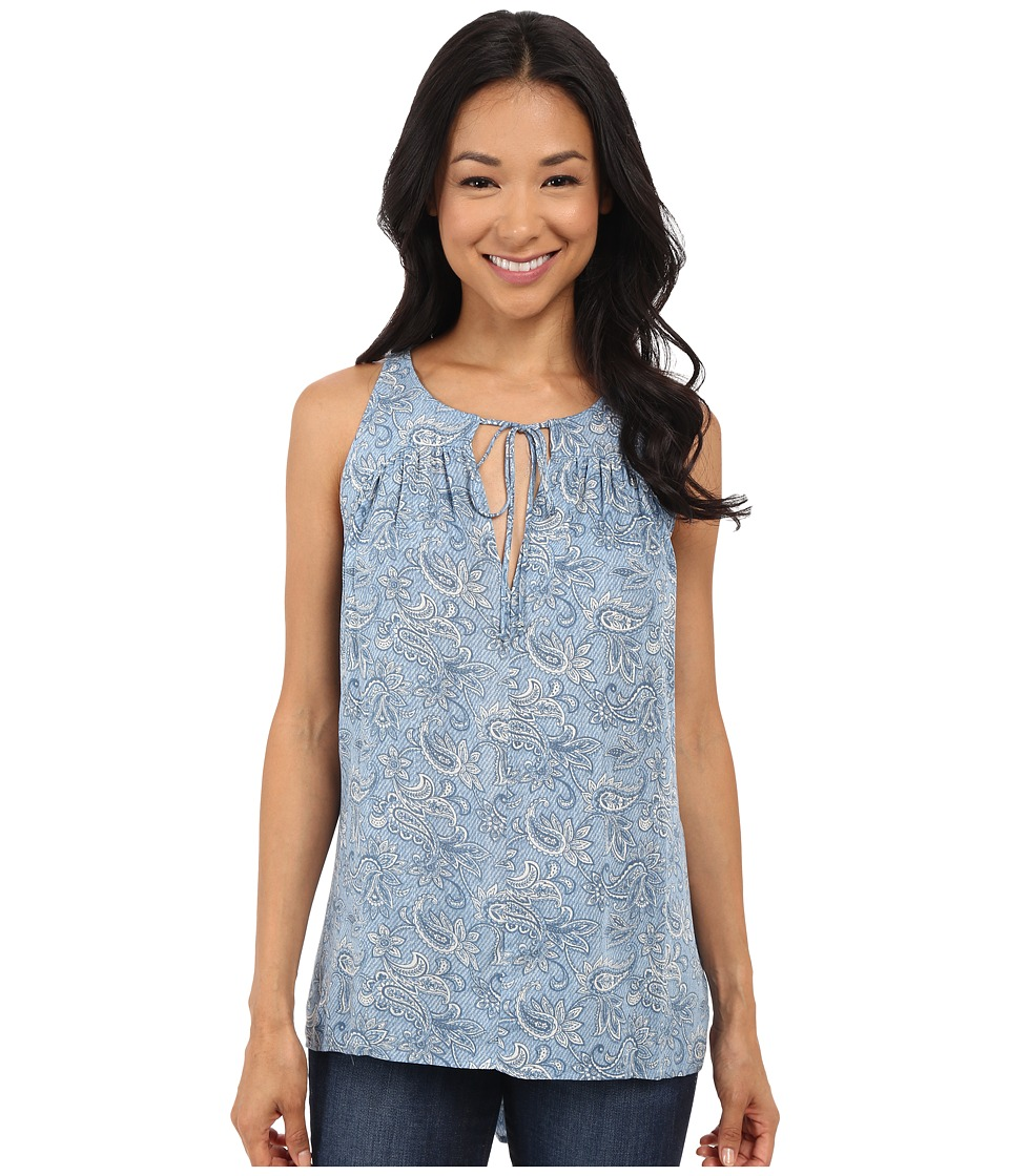 Brigitte Bailey Kita Sleeveless Print Tank Top Blue Floral Womens Sleeveless