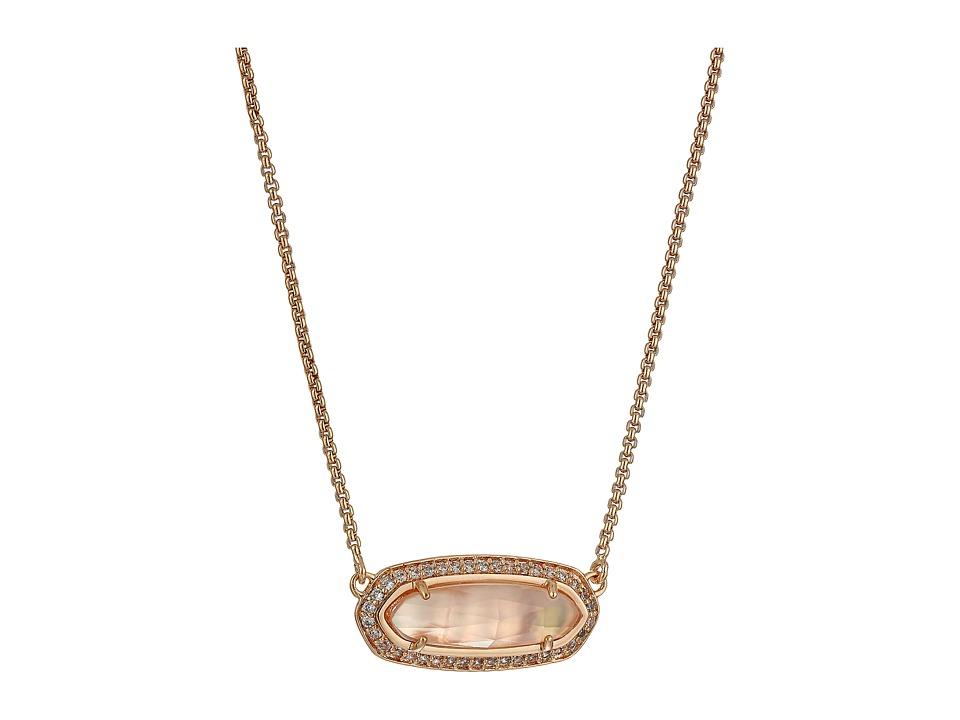 Kendra Scott Annika Necklace Rose Gold/Peach Illusion Necklace