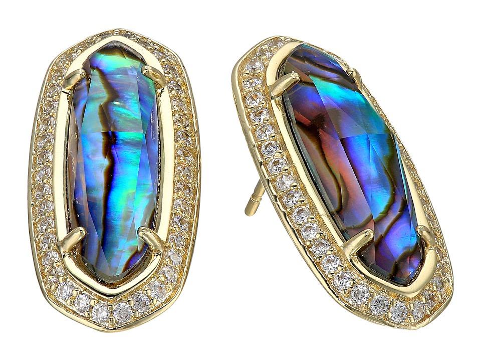 Kendra Scott Aston Earrings Gold/Abalone Earring