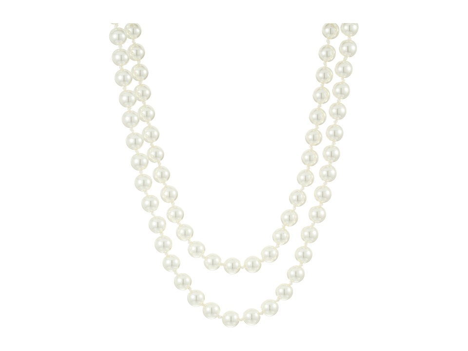 LAUREN Ralph Lauren - Social Set 36 8mm Pearl Necklace (White Pearl/Silver) Necklace