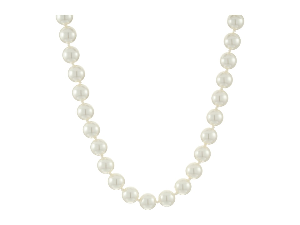LAUREN Ralph Lauren - Social Set 18 10mm Pearl Necklace (White Pearl/Silver) Necklace