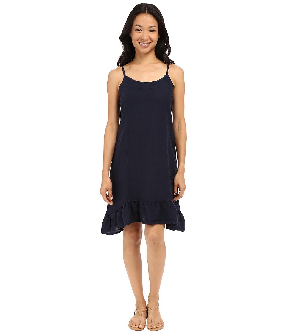 Allen Allen Linen Tank Dress Lapis Womens Dress