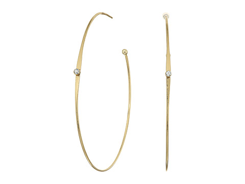 LAUREN Ralph Lauren Fringe Worthy Large Hoop Stone Earrings - Gold/Crystal
