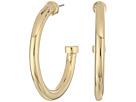 LAUREN Ralph Lauren Riding High Large Metal 3/4 Hoop Earrings