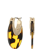 LAUREN Ralph Lauren - Riding High Graduated Tortoise Metal Hoop Earrings