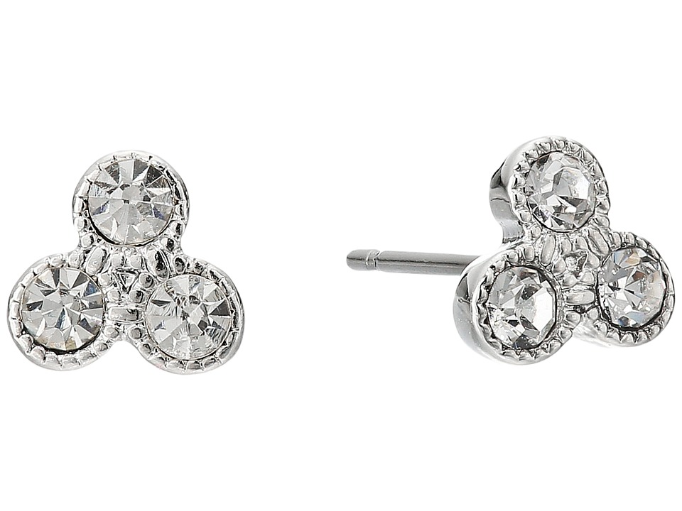 LAUREN Ralph Lauren - Social Set Triple Stone Stud Earrings (Crystal/Silver) Earring