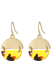 LAUREN Ralph Lauren - Riding High Metal Tortoise Disk Drop Earrings