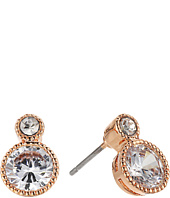 LAUREN Ralph Lauren - Rose Gold Social Small Stone Double Drop Earrings