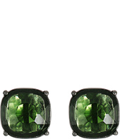 LAUREN Ralph Lauren - Hide and Chic Faceted Stone Clip Earrings