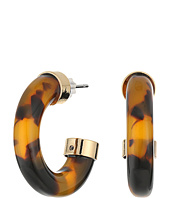 LAUREN Ralph Lauren - Riding High Small Tortoise Metal Hoop Earrings