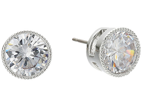LAUREN Ralph Lauren Social Set 8mm Crystal Stud Earrings - Crystal/Silver