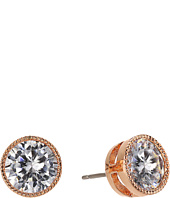 LAUREN Ralph Lauren - Rose Gold Social 8mm Crystal Stud Earrings