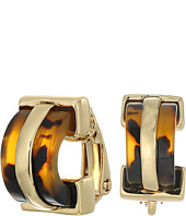 LAUREN Ralph Lauren - Riding High Small Tortoise Clip Hoop Earrings