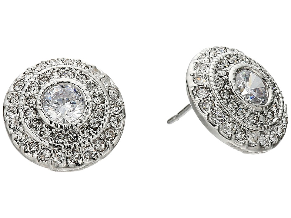 LAUREN Ralph Lauren - Social Set Vintage Crystal Stud Earrings (Crystal/Silver) Earring
