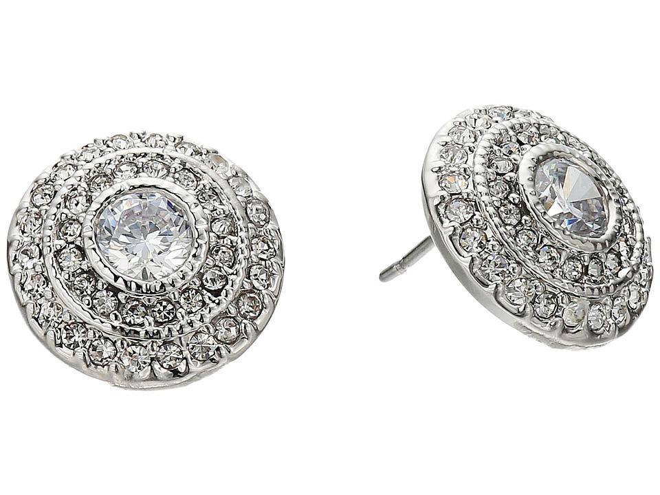 LAUREN Ralph Lauren - Social Set Vintage Crystal Stud Earrings (Crystal/Silver) Earring