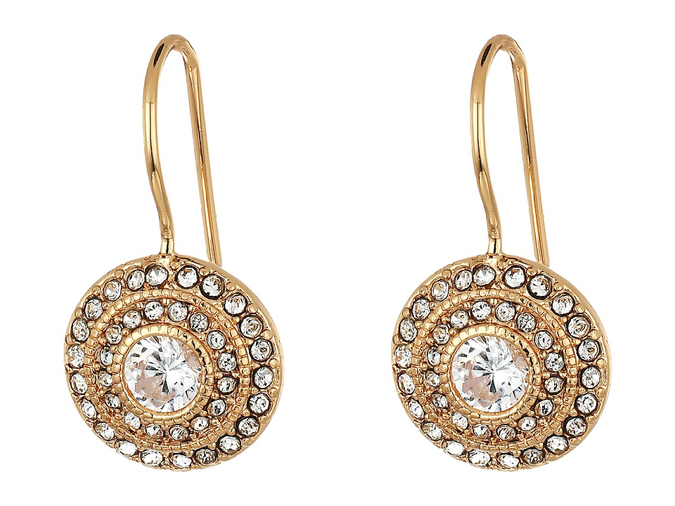 LAUREN Ralph Lauren - Vintage Crystal Drop Earrings (Crystal/Rose Gold) Earring