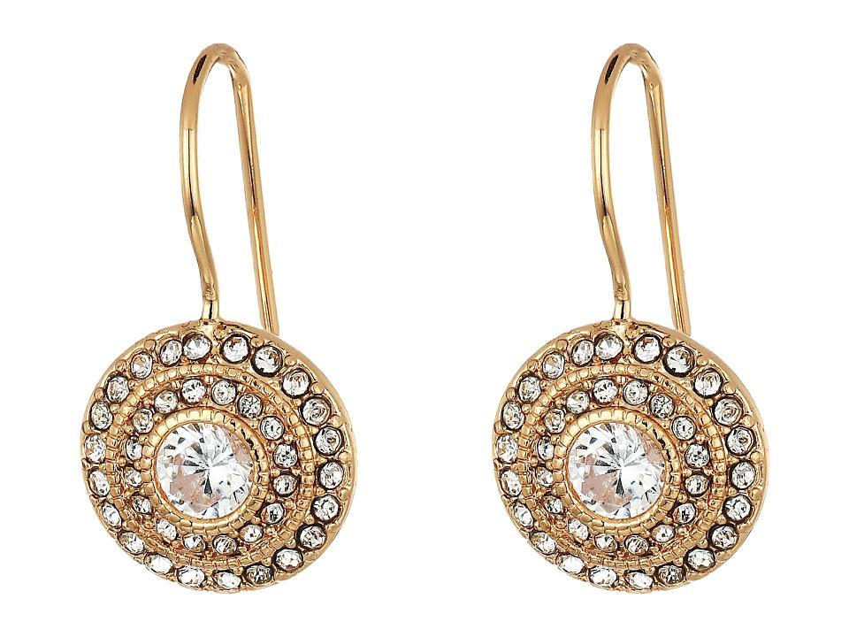 LAUREN Ralph Lauren - Vintage Crystal Drop Earrings (Crystal/Rose Gold) Earring