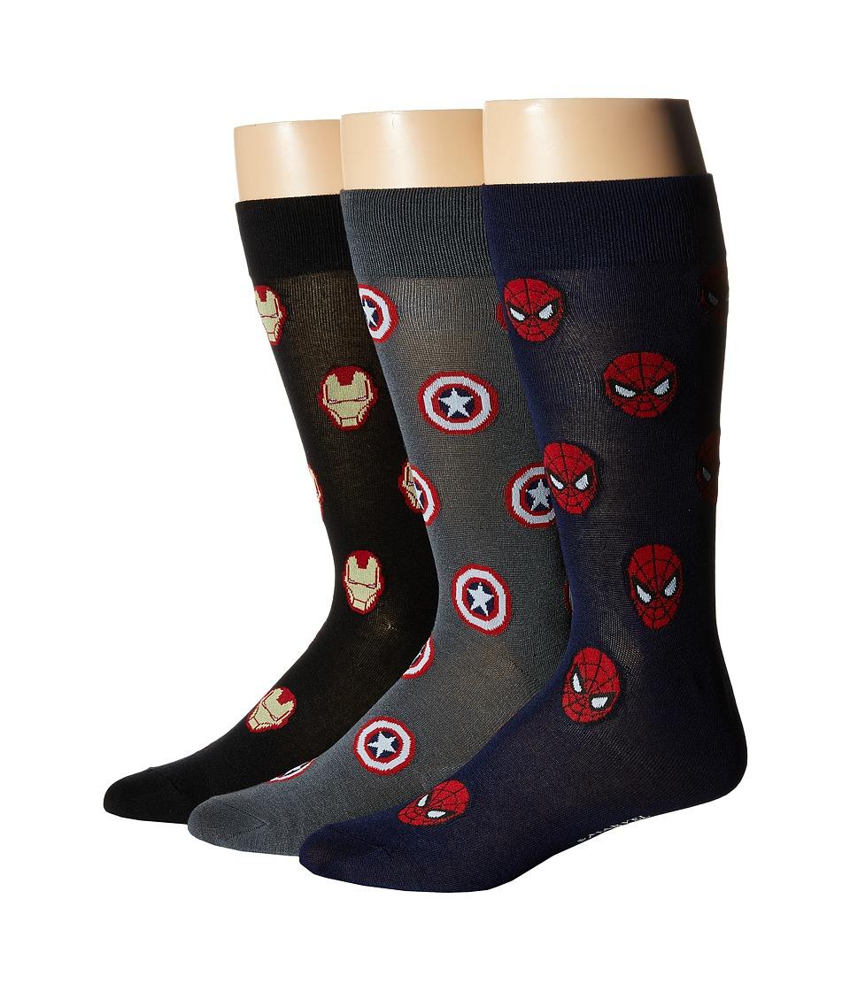 Cufflinks Inc. Marvel Heroes 3 Pair Socks Gift Set Multi Mens Crew Cut Socks Shoes