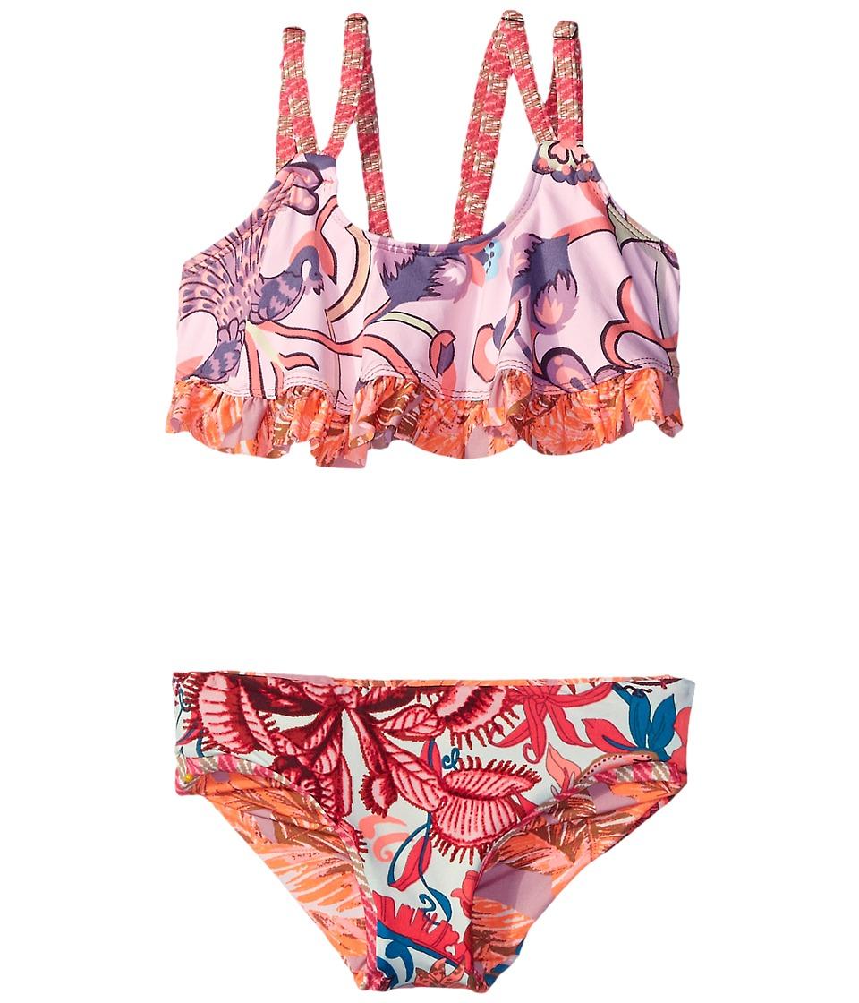Maaji Kids City of Art Ruffle Trim Bikini Set Toddler/Little Kids/Big Kids Multicolor Girls Swimwear Sets