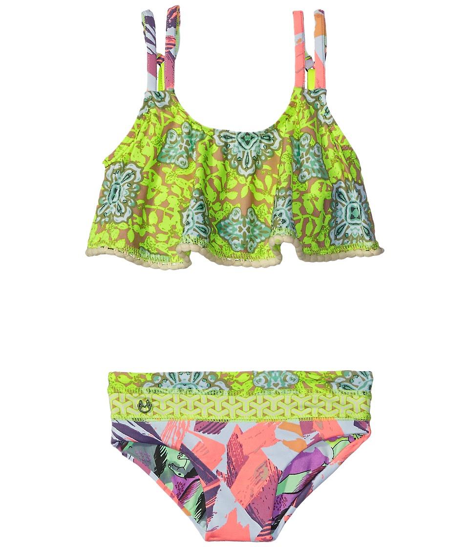 Maaji Kids Day In Paris Ruffle Top Bikini Set Toddler/Little Kids/Big Kids Multicolor Girls Swimwear Sets
