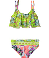Maaji Kids - Day In Paris Ruffle Top Bikini Set (Toddler/Little Kids/Big Kids)