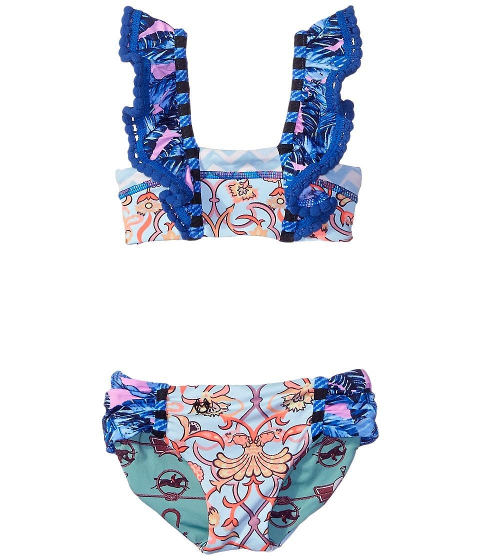 Maaji Kids Bateau Mouches Ruffle Front Bikini Set Toddler/Little Kids/Big Kids Multicolor Girls Swimwear Sets