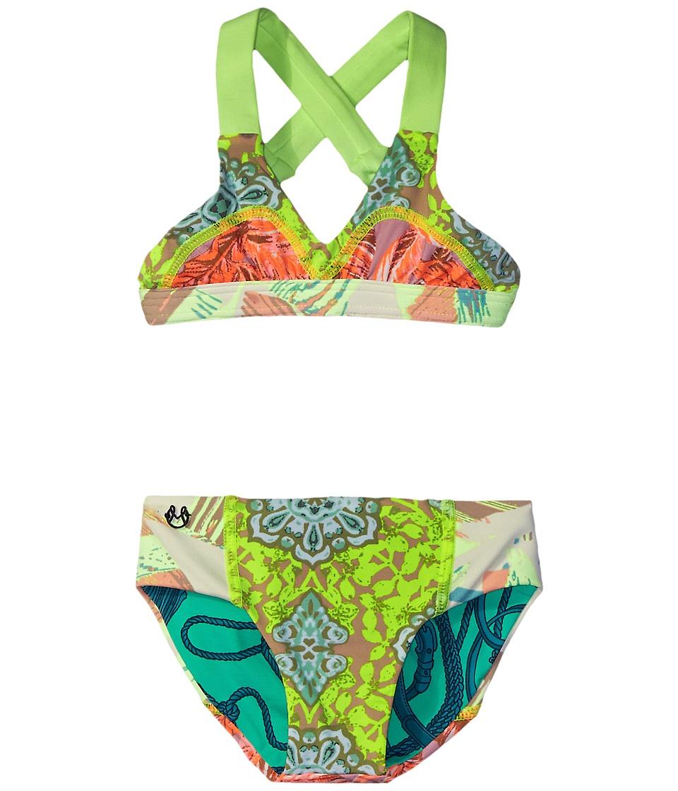 Maaji Kids Beaux Arts Fixed Triangle Bikini Set Toddler/Little Kids/Big Kids Multicolor Girls Swimwear Sets