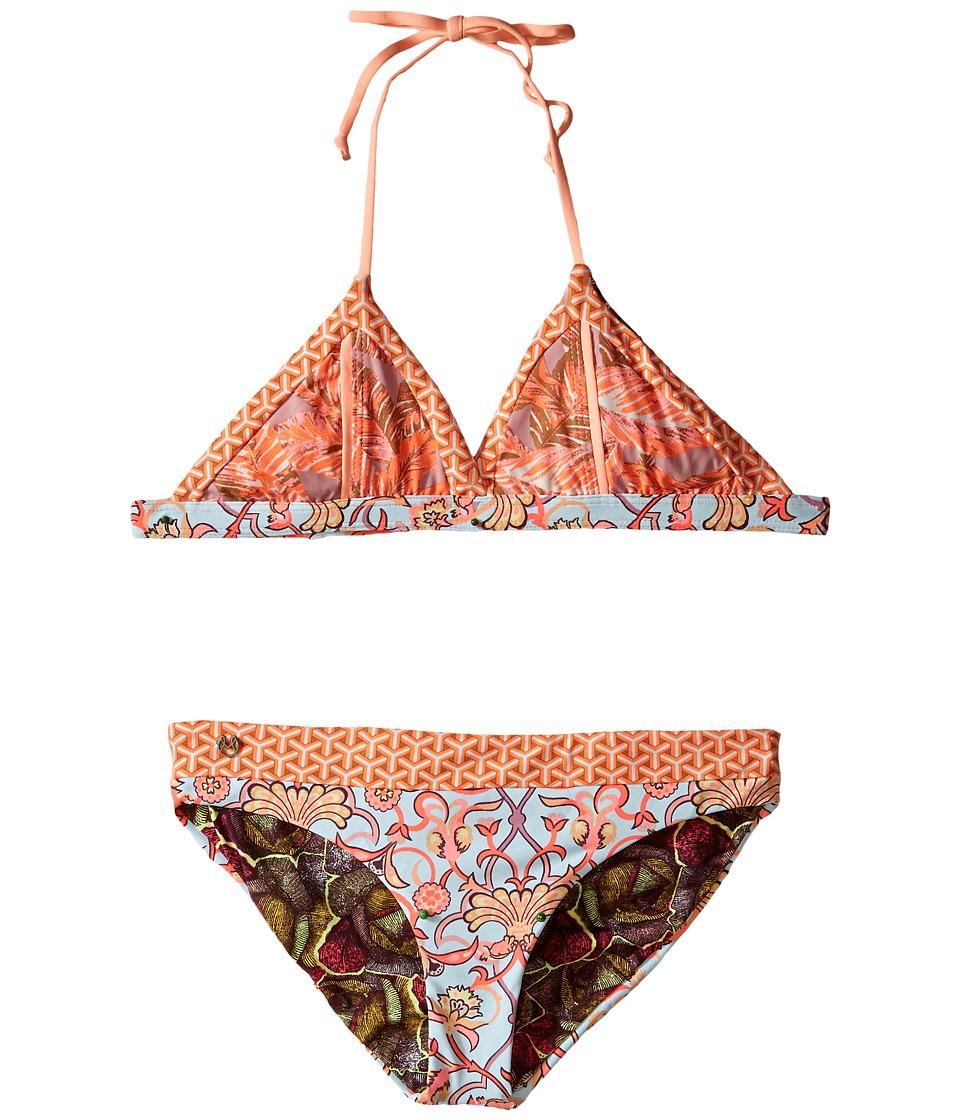 Maaji Kids Ediths Songs Fixed Triangle Bikini Set Toddler/Little Kids/Big Kids Multicolor Girls Swimwear Sets