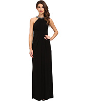 Adrianna Papell - Jersey Halter Gown w/ Necklace