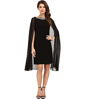 Adrianna Papell - Jersey Beaded Cape Dress