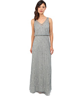 Adrianna Papell - Sleeveless V-Neck Bead Blouson Gown