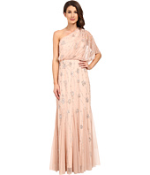 Adrianna Papell - One Shoulder Beaded Blouson Dress
