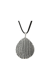 The Sak - Basketweave Texture Pendant Necklace 18