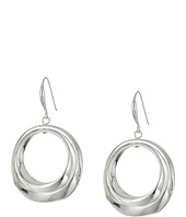 Robert Lee Morris - Silver Circle Drop Earrings