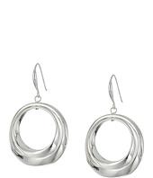 Robert Lee Morris - Silver Circle Drop Earrings